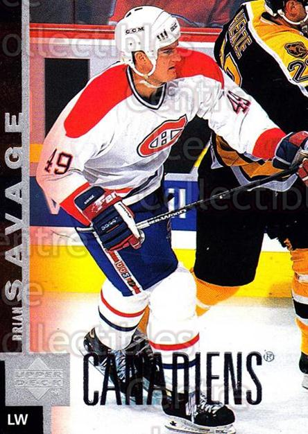 1997-98 Upper Deck #299 Brian Savage<br/>14 In Stock - $1.00 each - <a href=https://centericecollectibles.foxycart.com/cart?name=1997-98%20Upper%20Deck%20%23299%20Brian%20Savage...&quantity_max=14&price=$1.00&code=187786 class=foxycart> Buy it now! </a>