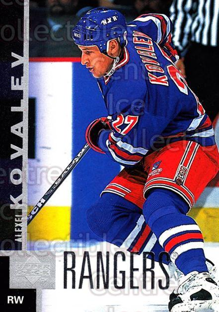 1997-98 Upper Deck #319 Alexei Kovalev<br/>14 In Stock - $1.00 each - <a href=https://centericecollectibles.foxycart.com/cart?name=1997-98%20Upper%20Deck%20%23319%20Alexei%20Kovalev...&quantity_max=14&price=$1.00&code=187809 class=foxycart> Buy it now! </a>