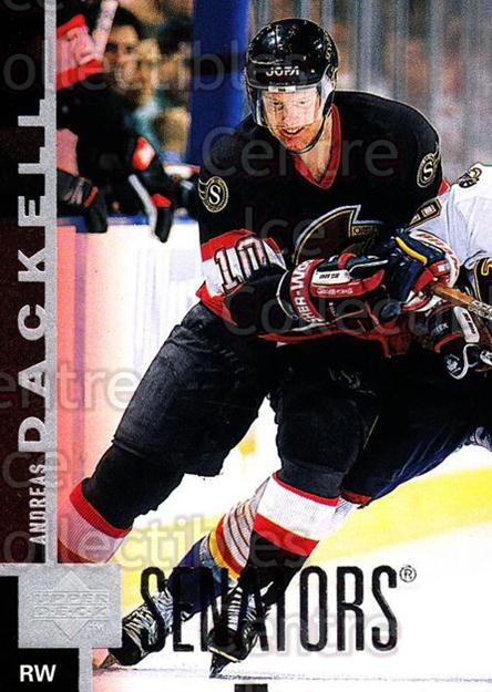 1997-98 Upper Deck #323 Andreas Dackell<br/>15 In Stock - $1.00 each - <a href=https://centericecollectibles.foxycart.com/cart?name=1997-98%20Upper%20Deck%20%23323%20Andreas%20Dackell...&quantity_max=15&price=$1.00&code=187814 class=foxycart> Buy it now! </a>
