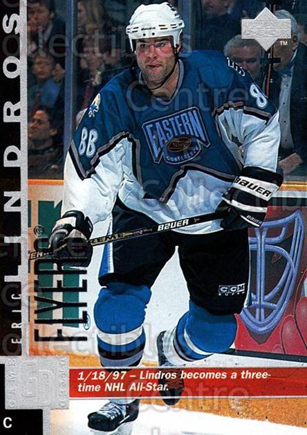 1997-98 Upper Deck #331 Eric Lindros<br/>15 In Stock - $1.00 each - <a href=https://centericecollectibles.foxycart.com/cart?name=1997-98%20Upper%20Deck%20%23331%20Eric%20Lindros...&quantity_max=15&price=$1.00&code=187822 class=foxycart> Buy it now! </a>