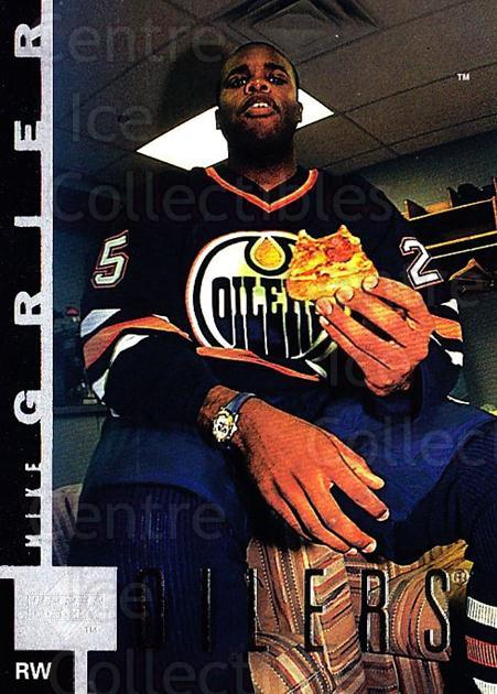 1997-98 Upper Deck #67 Mike Grier<br/>4 In Stock - $1.00 each - <a href=https://centericecollectibles.foxycart.com/cart?name=1997-98%20Upper%20Deck%20%2367%20Mike%20Grier...&quantity_max=4&price=$1.00&code=187941 class=foxycart> Buy it now! </a>