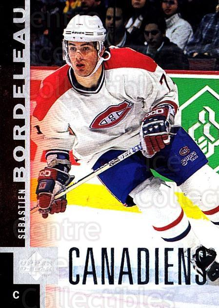 1997-98 Upper Deck #87 Sebastien Bordeleau<br/>2 In Stock - $1.00 each - <a href=https://centericecollectibles.foxycart.com/cart?name=1997-98%20Upper%20Deck%20%2387%20Sebastien%20Borde...&quantity_max=2&price=$1.00&code=187963 class=foxycart> Buy it now! </a>