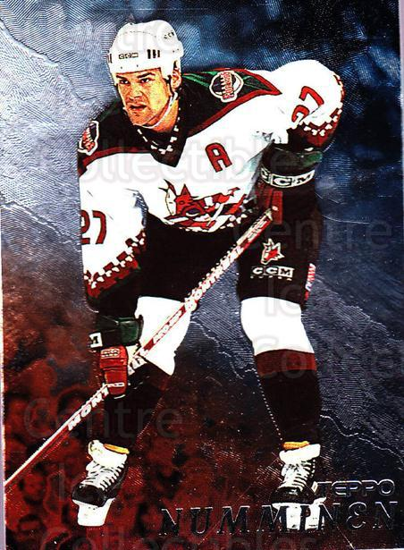 1998-99 Be A Player #106 Teppo Numminen<br/>3 In Stock - $1.00 each - <a href=https://centericecollectibles.foxycart.com/cart?name=1998-99%20Be%20A%20Player%20%23106%20Teppo%20Numminen...&quantity_max=3&price=$1.00&code=187984 class=foxycart> Buy it now! </a>