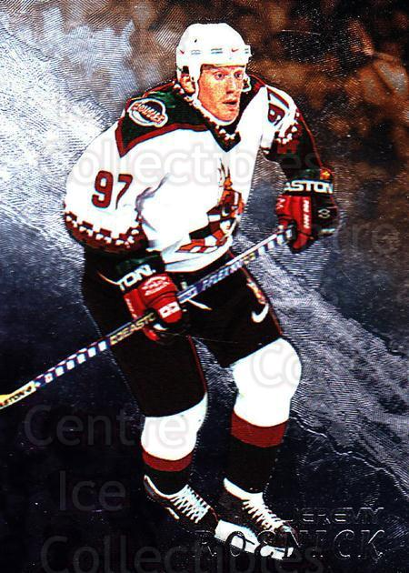 1998-99 Be A Player #107 Jeremy Roenick<br/>3 In Stock - $1.00 each - <a href=https://centericecollectibles.foxycart.com/cart?name=1998-99%20Be%20A%20Player%20%23107%20Jeremy%20Roenick...&quantity_max=3&price=$1.00&code=187985 class=foxycart> Buy it now! </a>