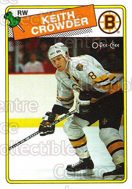 1988-89 O-Pee-Chee #206 Keith Crowder<br/>11 In Stock - $1.00 each - <a href=https://centericecollectibles.foxycart.com/cart?name=1988-89%20O-Pee-Chee%20%23206%20Keith%20Crowder...&quantity_max=11&price=$1.00&code=187 class=foxycart> Buy it now! </a>