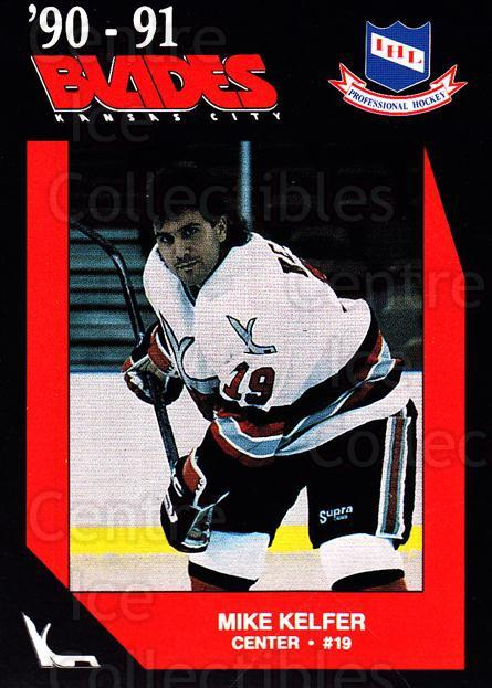 1990-91 Kansas City Blades #16 Mike Kelfer<br/>1 In Stock - $3.00 each - <a href=https://centericecollectibles.foxycart.com/cart?name=1990-91%20Kansas%20City%20Blades%20%2316%20Mike%20Kelfer...&quantity_max=1&price=$3.00&code=18803 class=foxycart> Buy it now! </a>
