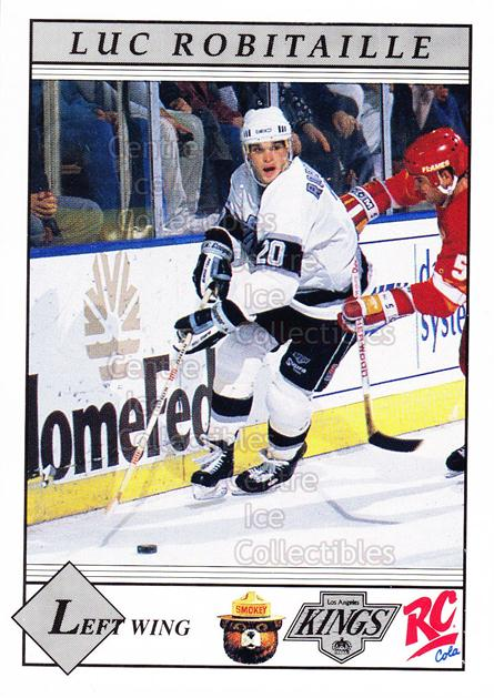 1990-91 Los Angeles Kings Smokey #10 Luc Robitaille<br/>14 In Stock - $3.00 each - <a href=https://centericecollectibles.foxycart.com/cart?name=1990-91%20Los%20Angeles%20Kings%20Smokey%20%2310%20Luc%20Robitaille...&quantity_max=14&price=$3.00&code=18814 class=foxycart> Buy it now! </a>