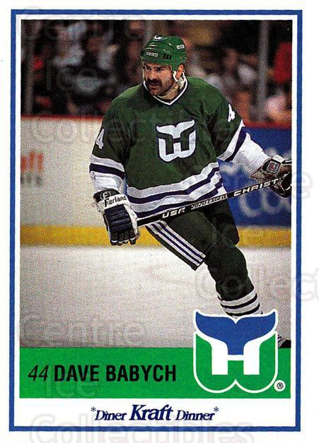1990-91 Kraft #1 Dave Babych<br/>5 In Stock - $2.00 each - <a href=https://centericecollectibles.foxycart.com/cart?name=1990-91%20Kraft%20%231%20Dave%20Babych...&quantity_max=5&price=$2.00&code=18835 class=foxycart> Buy it now! </a>