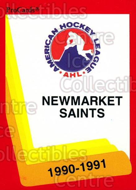 1990-91 ProCards AHL IHL #170 Newmarket Saints, Checklist<br/>21 In Stock - $2.00 each - <a href=https://centericecollectibles.foxycart.com/cart?name=1990-91%20ProCards%20AHL%20IHL%20%23170%20Newmarket%20Saint...&quantity_max=21&price=$2.00&code=18912 class=foxycart> Buy it now! </a>