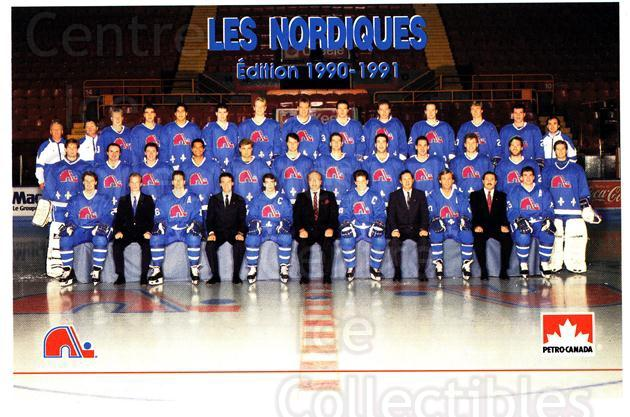 1990-91 Quebec Nordiques Petro-Canada #28 Quebec Nordiques, Team Photo<br/>1 In Stock - $3.00 each - <a href=https://centericecollectibles.foxycart.com/cart?name=1990-91%20Quebec%20Nordiques%20Petro-Canada%20%2328%20Quebec%20Nordique...&price=$3.00&code=18925 class=foxycart> Buy it now! </a>