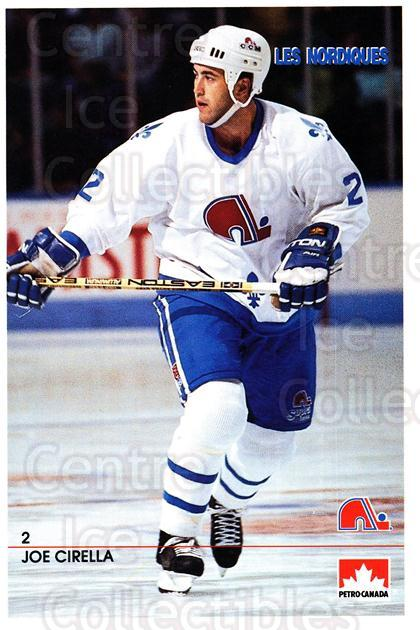 1990-91 Quebec Nordiques Petro-Canada #4 Joe Cirella<br/>2 In Stock - $3.00 each - <a href=https://centericecollectibles.foxycart.com/cart?name=1990-91%20Quebec%20Nordiques%20Petro-Canada%20%234%20Joe%20Cirella...&quantity_max=2&price=$3.00&code=18926 class=foxycart> Buy it now! </a>