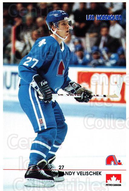 1990-91 Quebec Nordiques Petro-Canada #37 Randy Velischek<br/>2 In Stock - $3.00 each - <a href=https://centericecollectibles.foxycart.com/cart?name=1990-91%20Quebec%20Nordiques%20Petro-Canada%20%2337%20Randy%20Velischek...&quantity_max=2&price=$3.00&code=18929 class=foxycart> Buy it now! </a>