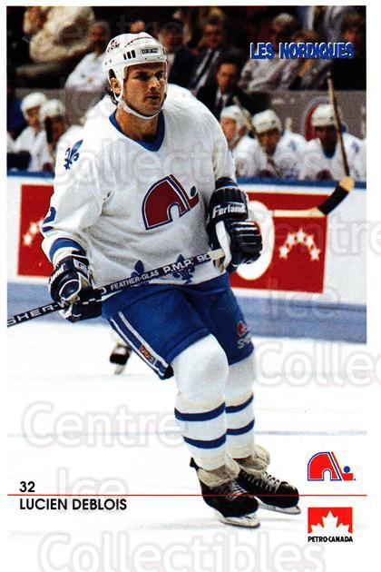 1990-91 Quebec Nordiques Petro-Canada #6 Lucien DeBlois<br/>1 In Stock - $3.00 each - <a href=https://centericecollectibles.foxycart.com/cart?name=1990-91%20Quebec%20Nordiques%20Petro-Canada%20%236%20Lucien%20DeBlois...&quantity_max=1&price=$3.00&code=18930 class=foxycart> Buy it now! </a>