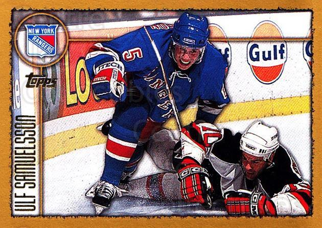 1998-99 Topps #127 Ulf Samuelsson<br/>6 In Stock - $1.00 each - <a href=https://centericecollectibles.foxycart.com/cart?name=1998-99%20Topps%20%23127%20Ulf%20Samuelsson...&quantity_max=6&price=$1.00&code=189431 class=foxycart> Buy it now! </a>