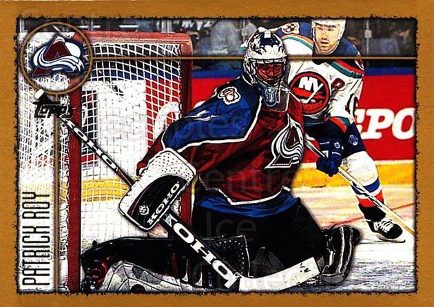 1998-99 Topps #190 Patrick Roy<br/>3 In Stock - $2.00 each - <a href=https://centericecollectibles.foxycart.com/cart?name=1998-99%20Topps%20%23190%20Patrick%20Roy...&quantity_max=3&price=$2.00&code=189499 class=foxycart> Buy it now! </a>