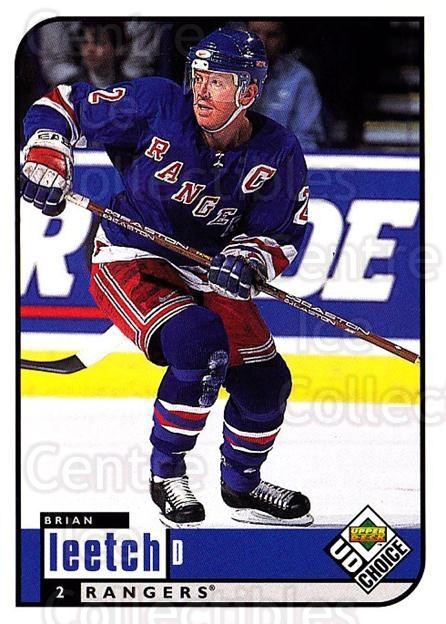 1998-99 UD Choice #129 Brian Leetch<br/>6 In Stock - $1.00 each - <a href=https://centericecollectibles.foxycart.com/cart?name=1998-99%20UD%20Choice%20%23129%20Brian%20Leetch...&quantity_max=6&price=$1.00&code=189663 class=foxycart> Buy it now! </a>