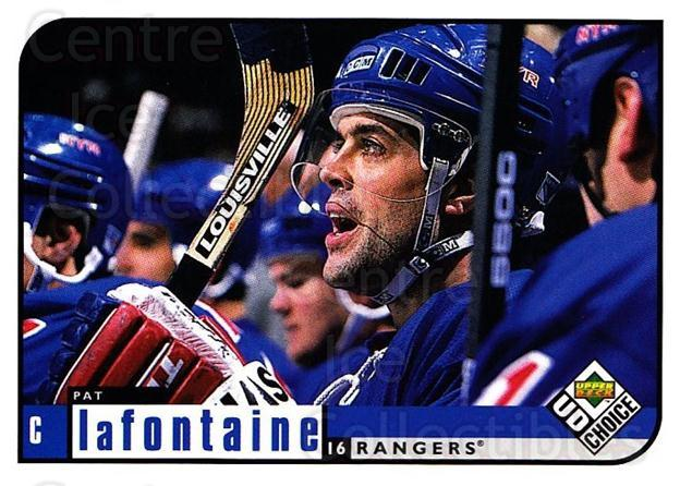 1998-99 UD Choice #130 Pat LaFontaine<br/>5 In Stock - $1.00 each - <a href=https://centericecollectibles.foxycart.com/cart?name=1998-99%20UD%20Choice%20%23130%20Pat%20LaFontaine...&quantity_max=5&price=$1.00&code=189665 class=foxycart> Buy it now! </a>