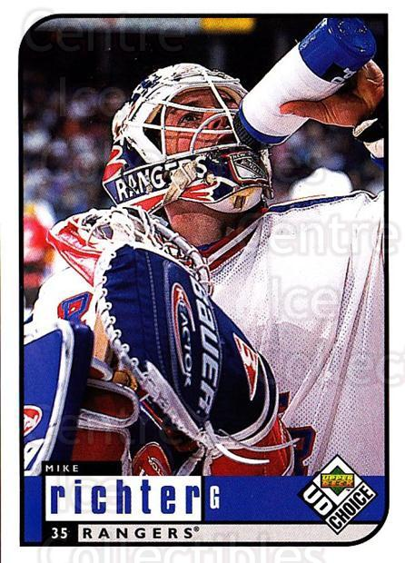 1998-99 UD Choice #135 Mike Richter<br/>4 In Stock - $1.00 each - <a href=https://centericecollectibles.foxycart.com/cart?name=1998-99%20UD%20Choice%20%23135%20Mike%20Richter...&quantity_max=4&price=$1.00&code=189669 class=foxycart> Buy it now! </a>