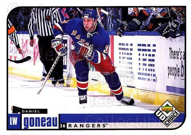 1998-99 UD Choice #137 Daniel Goneau<br/>1 In Stock - $1.00 each - <a href=https://centericecollectibles.foxycart.com/cart?name=1998-99%20UD%20Choice%20%23137%20Daniel%20Goneau...&quantity_max=1&price=$1.00&code=189671 class=foxycart> Buy it now! </a>