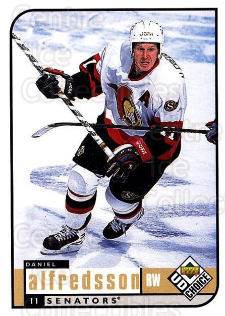 1998-99 UD Choice #144 Daniel Alfredsson<br/>4 In Stock - $1.00 each - <a href=https://centericecollectibles.foxycart.com/cart?name=1998-99%20UD%20Choice%20%23144%20Daniel%20Alfredss...&quantity_max=4&price=$1.00&code=189679 class=foxycart> Buy it now! </a>