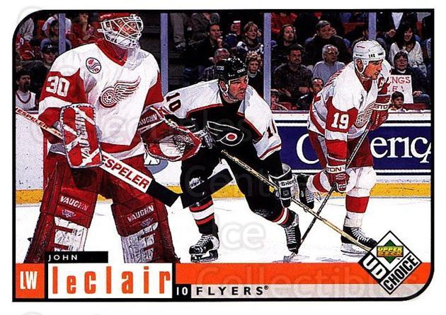 1998-99 UD Choice #153 John LeClair<br/>5 In Stock - $1.00 each - <a href=https://centericecollectibles.foxycart.com/cart?name=1998-99%20UD%20Choice%20%23153%20John%20LeClair...&quantity_max=5&price=$1.00&code=189688 class=foxycart> Buy it now! </a>