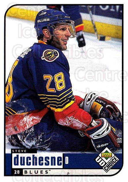 1998-99 UD Choice #182 Steve Duchesne<br/>5 In Stock - $1.00 each - <a href=https://centericecollectibles.foxycart.com/cart?name=1998-99%20UD%20Choice%20%23182%20Steve%20Duchesne...&quantity_max=5&price=$1.00&code=189720 class=foxycart> Buy it now! </a>