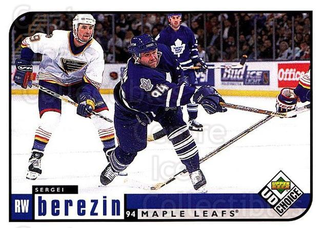 1998-99 UD Choice #201 Sergei Berezin<br/>6 In Stock - $1.00 each - <a href=https://centericecollectibles.foxycart.com/cart?name=1998-99%20UD%20Choice%20%23201%20Sergei%20Berezin...&quantity_max=6&price=$1.00&code=189741 class=foxycart> Buy it now! </a>