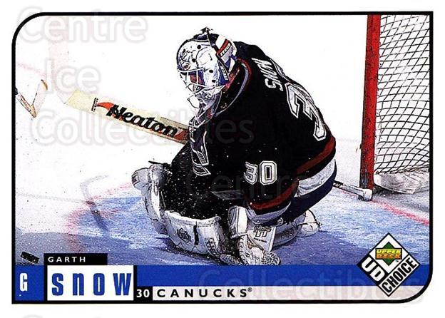 1998-99 UD Choice #207 Garth Snow<br/>5 In Stock - $1.00 each - <a href=https://centericecollectibles.foxycart.com/cart?name=1998-99%20UD%20Choice%20%23207%20Garth%20Snow...&quantity_max=5&price=$1.00&code=189746 class=foxycart> Buy it now! </a>
