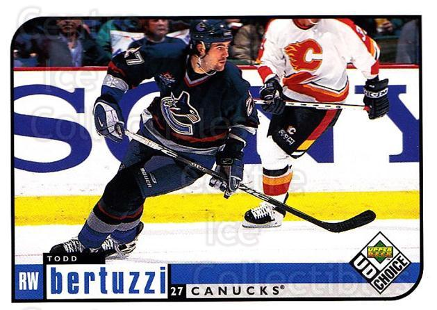 1998-99 UD Choice #212 Todd Bertuzzi<br/>6 In Stock - $1.00 each - <a href=https://centericecollectibles.foxycart.com/cart?name=1998-99%20UD%20Choice%20%23212%20Todd%20Bertuzzi...&quantity_max=6&price=$1.00&code=189752 class=foxycart> Buy it now! </a>