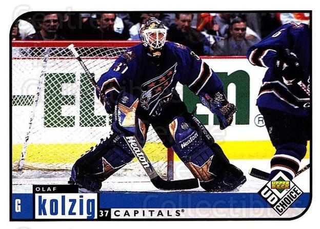 1998-99 UD Choice #215 Olaf Kolzig<br/>4 In Stock - $1.00 each - <a href=https://centericecollectibles.foxycart.com/cart?name=1998-99%20UD%20Choice%20%23215%20Olaf%20Kolzig...&quantity_max=4&price=$1.00&code=189755 class=foxycart> Buy it now! </a>