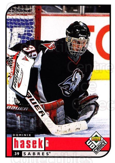 1998-99 UD Choice #23 Dominik Hasek<br/>4 In Stock - $1.00 each - <a href=https://centericecollectibles.foxycart.com/cart?name=1998-99%20UD%20Choice%20%2323%20Dominik%20Hasek...&quantity_max=4&price=$1.00&code=189769 class=foxycart> Buy it now! </a>