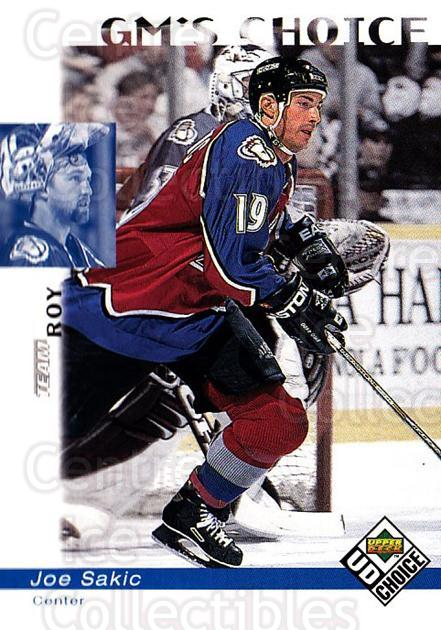 1998-99 UD Choice #230 Joe Sakic, Patrick Roy<br/>4 In Stock - $2.00 each - <a href=https://centericecollectibles.foxycart.com/cart?name=1998-99%20UD%20Choice%20%23230%20Joe%20Sakic,%20Patr...&quantity_max=4&price=$2.00&code=189770 class=foxycart> Buy it now! </a>