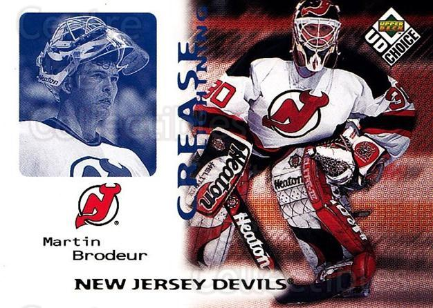 1998-99 UD Choice #245 Martin Brodeur<br/>4 In Stock - $2.00 each - <a href=https://centericecollectibles.foxycart.com/cart?name=1998-99%20UD%20Choice%20%23245%20Martin%20Brodeur...&quantity_max=4&price=$2.00&code=189786 class=foxycart> Buy it now! </a>