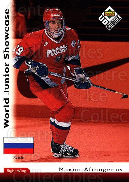 1998-99 UD Choice #282 Maxim Afinogenov<br/>4 In Stock - $1.00 each - <a href=https://centericecollectibles.foxycart.com/cart?name=1998-99%20UD%20Choice%20%23282%20Maxim%20Afinogeno...&quantity_max=4&price=$1.00&code=189822 class=foxycart> Buy it now! </a>