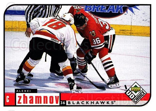 1998-99 UD Choice #48 Alexei Zhamnov<br/>6 In Stock - $1.00 each - <a href=https://centericecollectibles.foxycart.com/cart?name=1998-99%20UD%20Choice%20%2348%20Alexei%20Zhamnov...&quantity_max=6&price=$1.00&code=189867 class=foxycart> Buy it now! </a>