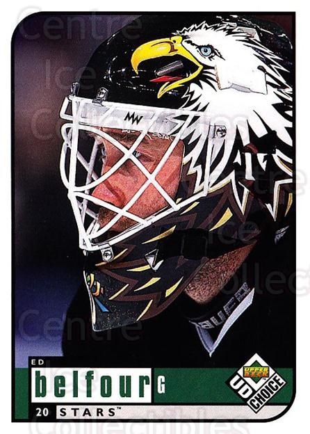 1998-99 UD Choice #63 Ed Belfour<br/>4 In Stock - $1.00 each - <a href=https://centericecollectibles.foxycart.com/cart?name=1998-99%20UD%20Choice%20%2363%20Ed%20Belfour...&price=$1.00&code=189884 class=foxycart> Buy it now! </a>