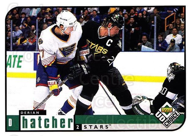 1998-99 UD Choice #65 Derian Hatcher<br/>6 In Stock - $1.00 each - <a href=https://centericecollectibles.foxycart.com/cart?name=1998-99%20UD%20Choice%20%2365%20Derian%20Hatcher...&quantity_max=6&price=$1.00&code=189886 class=foxycart> Buy it now! </a>