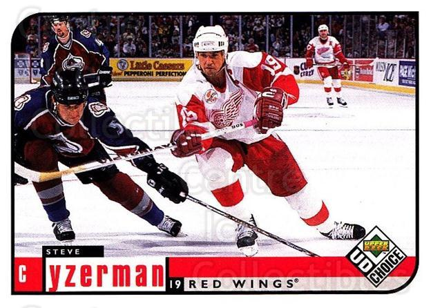 1998-99 UD Choice #73 Steve Yzerman<br/>5 In Stock - $2.00 each - <a href=https://centericecollectibles.foxycart.com/cart?name=1998-99%20UD%20Choice%20%2373%20Steve%20Yzerman...&quantity_max=5&price=$2.00&code=189893 class=foxycart> Buy it now! </a>