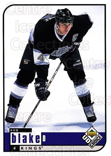 1998-99 UD Choice #95 Rob Blake<br/>1 In Stock - $1.00 each - <a href=https://centericecollectibles.foxycart.com/cart?name=1998-99%20UD%20Choice%20%2395%20Rob%20Blake...&quantity_max=1&price=$1.00&code=189917 class=foxycart> Buy it now! </a>