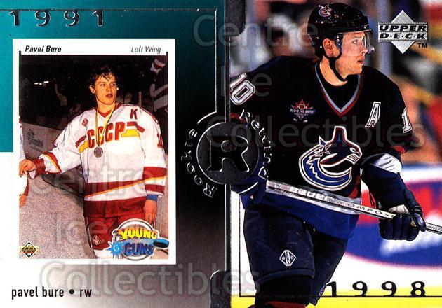 1998-99 Upper Deck #18 Pavel Bure<br/>5 In Stock - $3.00 each - <a href=https://centericecollectibles.foxycart.com/cart?name=1998-99%20Upper%20Deck%20%2318%20Pavel%20Bure...&quantity_max=5&price=$3.00&code=190007 class=foxycart> Buy it now! </a>