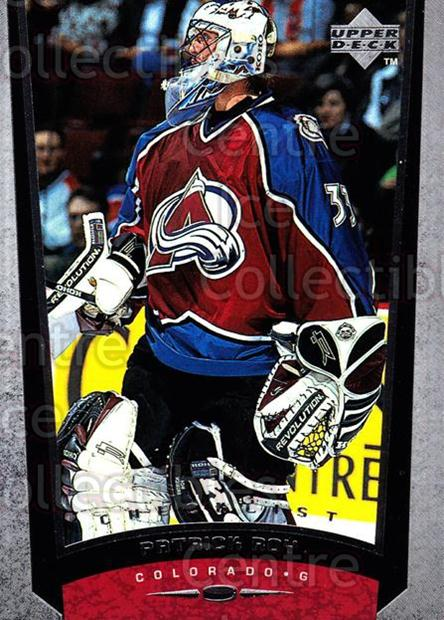 1998-99 Upper Deck #208 Patrick Roy, Checklist<br/>16 In Stock - $2.00 each - <a href=https://centericecollectibles.foxycart.com/cart?name=1998-99%20Upper%20Deck%20%23208%20Patrick%20Roy,%20Ch...&quantity_max=16&price=$2.00&code=190039 class=foxycart> Buy it now! </a>