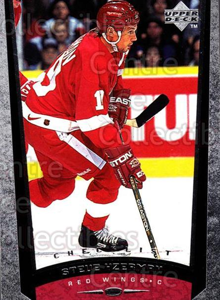 1998-99 Upper Deck #209 Steve Yzerman, Checklist<br/>19 In Stock - $2.00 each - <a href=https://centericecollectibles.foxycart.com/cart?name=1998-99%20Upper%20Deck%20%23209%20Steve%20Yzerman,%20...&quantity_max=19&price=$2.00&code=190040 class=foxycart> Buy it now! </a>