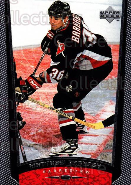 1998-99 Upper Deck #228 Matthew Barnaby<br/>14 In Stock - $1.00 each - <a href=https://centericecollectibles.foxycart.com/cart?name=1998-99%20Upper%20Deck%20%23228%20Matthew%20Barnaby...&quantity_max=14&price=$1.00&code=190061 class=foxycart> Buy it now! </a>