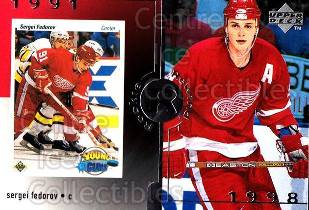 1998-99 Upper Deck #23 Sergei Fedorov<br/>13 In Stock - $3.00 each - <a href=https://centericecollectibles.foxycart.com/cart?name=1998-99%20Upper%20Deck%20%2323%20Sergei%20Fedorov...&quantity_max=13&price=$3.00&code=190063 class=foxycart> Buy it now! </a>