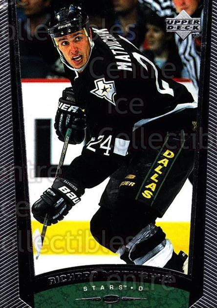 1998-99 Upper Deck #255 Richard Matvichuk<br/>12 In Stock - $1.00 each - <a href=https://centericecollectibles.foxycart.com/cart?name=1998-99%20Upper%20Deck%20%23255%20Richard%20Matvich...&quantity_max=12&price=$1.00&code=190090 class=foxycart> Buy it now! </a>