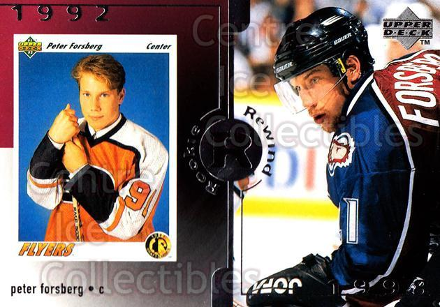 1998-99 Upper Deck #29 Peter Forsberg<br/>13 In Stock - $3.00 each - <a href=https://centericecollectibles.foxycart.com/cart?name=1998-99%20Upper%20Deck%20%2329%20Peter%20Forsberg...&quantity_max=13&price=$3.00&code=190128 class=foxycart> Buy it now! </a>
