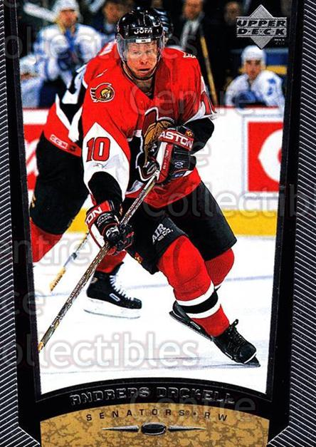 1998-99 Upper Deck #331 Andreas Dackell<br/>13 In Stock - $1.00 each - <a href=https://centericecollectibles.foxycart.com/cart?name=1998-99%20Upper%20Deck%20%23331%20Andreas%20Dackell...&quantity_max=13&price=$1.00&code=190174 class=foxycart> Buy it now! </a>