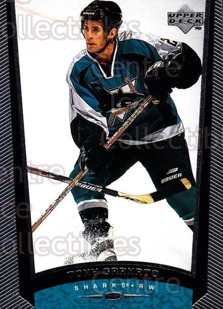 1998-99 Upper Deck #352 Tony Granato<br/>13 In Stock - $1.00 each - <a href=https://centericecollectibles.foxycart.com/cart?name=1998-99%20Upper%20Deck%20%23352%20Tony%20Granato...&quantity_max=13&price=$1.00&code=190196 class=foxycart> Buy it now! </a>