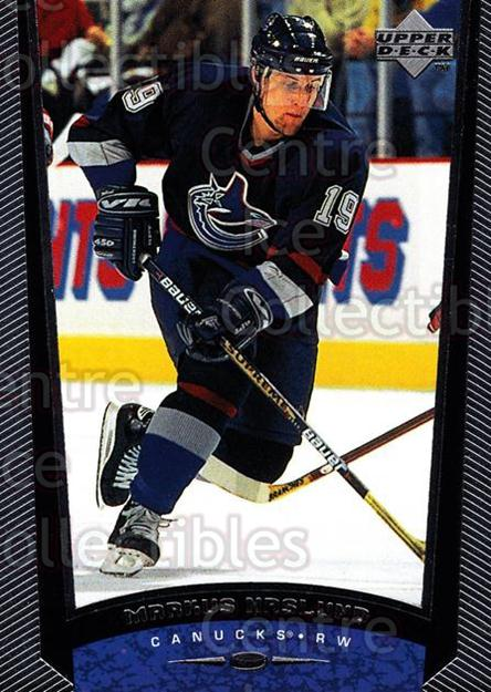 1998-99 Upper Deck #379 Markus Naslund<br/>13 In Stock - $1.00 each - <a href=https://centericecollectibles.foxycart.com/cart?name=1998-99%20Upper%20Deck%20%23379%20Markus%20Naslund...&quantity_max=13&price=$1.00&code=190225 class=foxycart> Buy it now! </a>