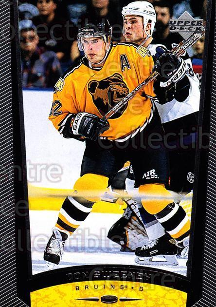 1998-99 Upper Deck #40 Don Sweeney<br/>14 In Stock - $1.00 each - <a href=https://centericecollectibles.foxycart.com/cart?name=1998-99%20Upper%20Deck%20%2340%20Don%20Sweeney...&quantity_max=14&price=$1.00&code=190246 class=foxycart> Buy it now! </a>